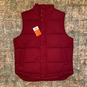 St. Johns Bay red puffer vest